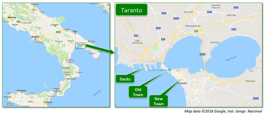 Taranto Map