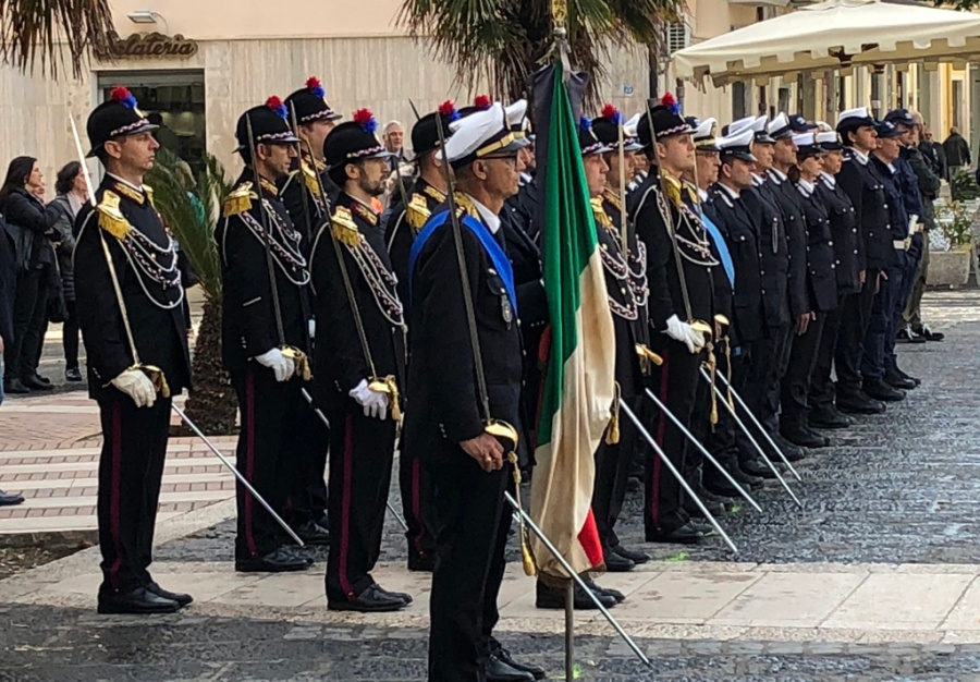 Police parade, Foggia, Thursday 12th April 2018