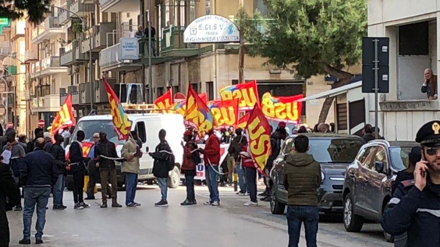 USB Agricultural Workers' March Foggia, Thursday 12th April 2018