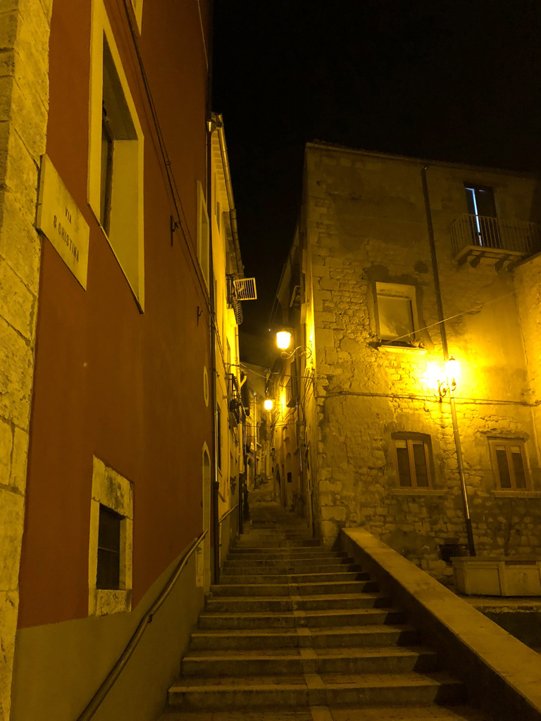 Campobasso Old Town view - nighttime