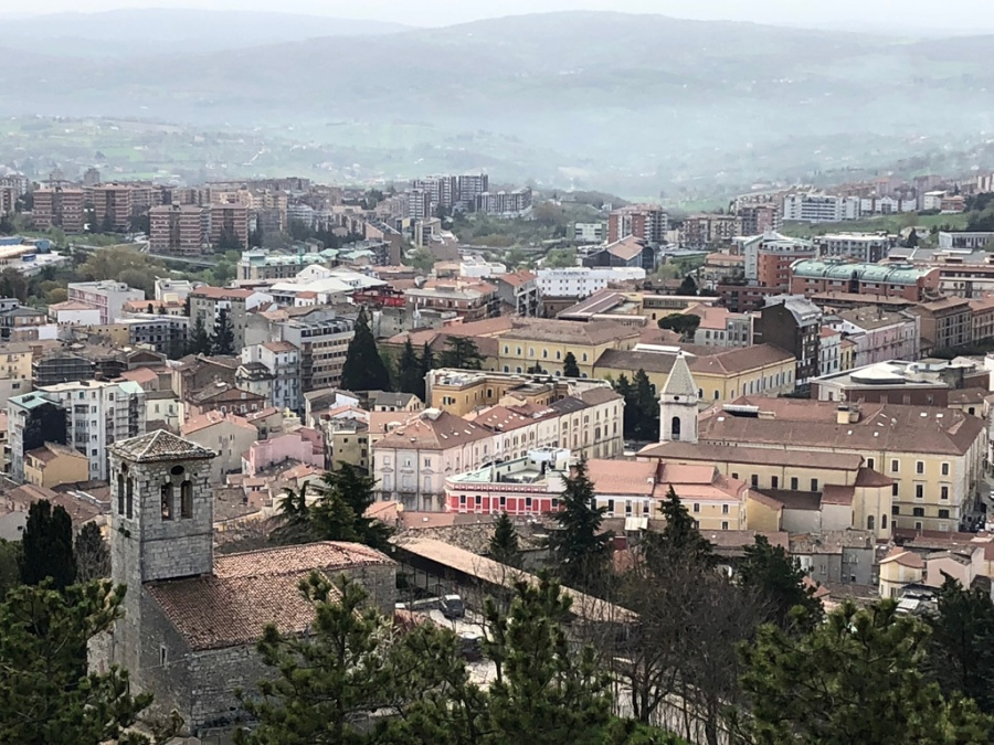 Campobasso New Town fromthe Castello Monforte fortress