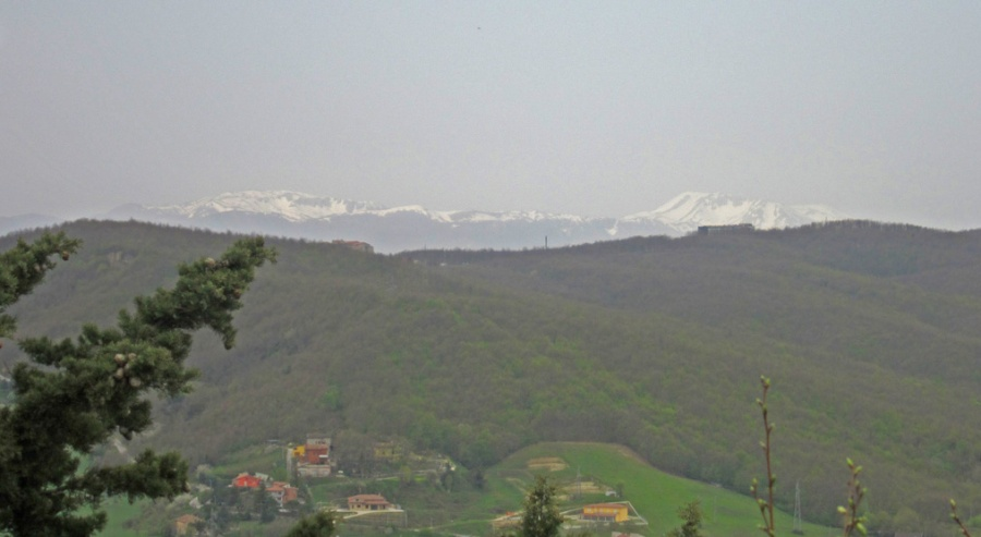 The Apennines, from the Castello Monforte fortress